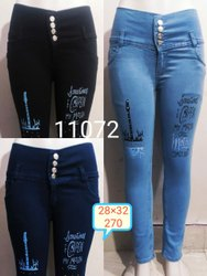 Button Ladies Jeans, Waist Size: 28x32