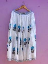 Hand Block Printed Skirt