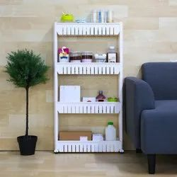 Storage Organizer Slim Rack Shelf With Wheels
