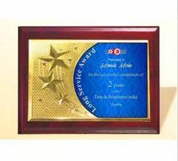 FP 10760 Golden Certificate Memento