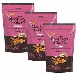 Makhanawala's Roasted Makhana (Foxnuts) Peri - Peri Pack of 3 80 g Each.