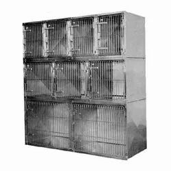 Stainless Steel Silver SS Animal Cage