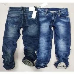 Faded Casual Wear Mens Denim Stretchable Jeans