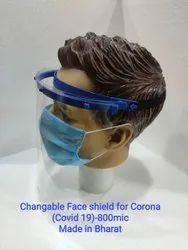 Changeable Face Shield For Corona (covid 19)- 800 Mic