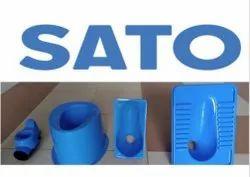 BLUE,WHITE Floor Mounted SATO Sanitary Items, For Toilet