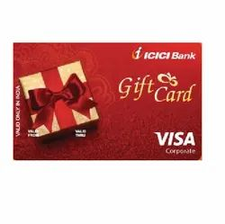 Red Prepaid Bank Gift Card