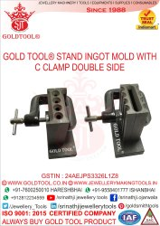 Gold Tool Reversible Ingot Molds With C Clamp Double Side