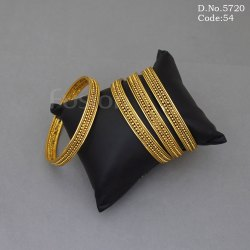 4 Piece Plain Gold Fashion Bangles