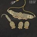 Reverse Ad Mehendi Polish Choker Necklace Set