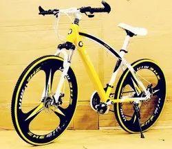BMW Sleek Design Yellow MTB Cycle