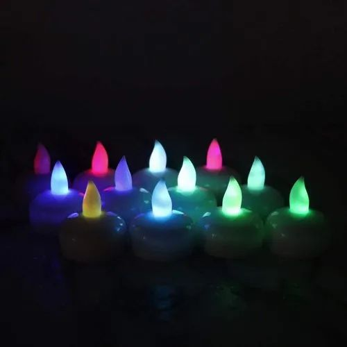 Waterproof Floating Candles LED Tea Lights,Multi-Color Changing Light (Pack Of 12)