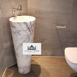 Modern Bathroom Pedestal Wash Basin