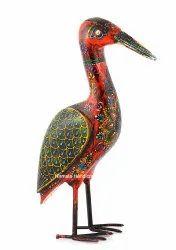 Wooden Craft Saras Crane Decorative Showpiece