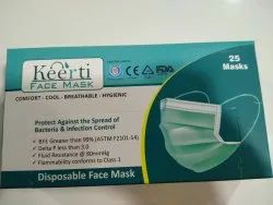 K3 non woven disposable green mask