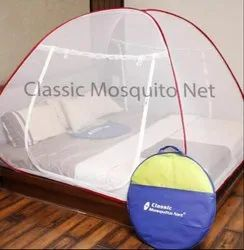 Red Self Standing Mosquito Bed Net, Size: Super King Size