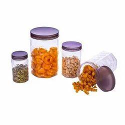 Hexa Container Plastic (Set Of Hexa Container Plastic Set Of 12 -350ml,650ml,1200ml,2000ml)