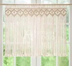 Natural Cotton Macrame Curtain