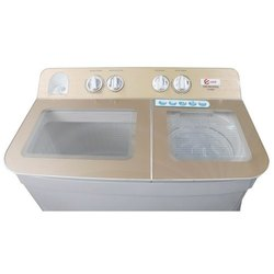 Top Loading 6kg Oraa Semi Automatic Washing Machine, Golden And White