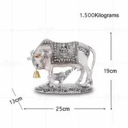 Silver Plated Cow And Calf Big