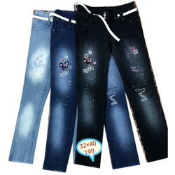 Slim Button Belt Loop Ladies Jeans, Waist Size: 32x40