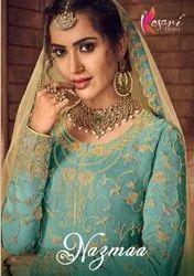 Kesari Trendz Nazmaa Vol 1 Georgette Plazzo Style Salwar Kameez Catalog