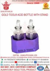 Gold Tool Acid Bottle with Stand