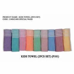 Kids Cotton Striped Cotton Towel, Rectangular, Size: 27x54 Inches