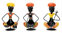Nirmala Handicrafts Exporters Metal Iron Rajasthani Musical Set Home & Table Showpiece