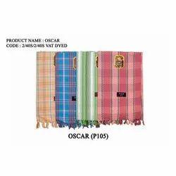 Oscar Cotton Check Towel, 140 GSM, Size: 30x60 Inches