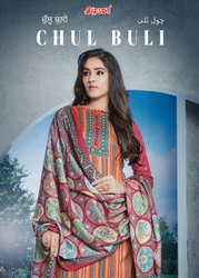 Salwar Suit Unstitched Bipson Chul Buli Woollen Pashmina, Packaging Type: Plastic Bag