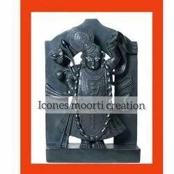 Standing Marble Shrinath ji Statue