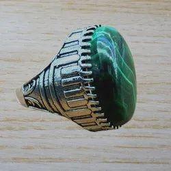 Handmade 925 Silver Jewelry Malachite Gemstone Men''S Ring