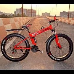 Land Rover Red Fat Tyre Foldable Cycle