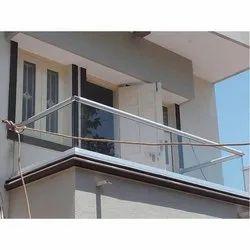 Aluminium Balcony Glass Railing, For Home