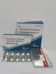 Amoxycillin 500mg.   Clavulanic Acid 125mg.