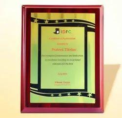 FP 10775 Golden Certificate Memento
