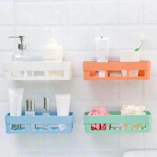 Kitchen Bathroom Shelf Wall Holder, Bathroom Wall Rack