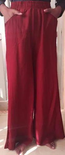 Punay Blush Cotton Parallel Pants Palazzo