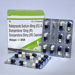 Rabeprazole Sodium 40mg EC And Domperidone 10mg IR Domperidone 20mg SR Capsules