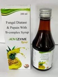 Fungal Diatese & Papain , B-complex Syrup