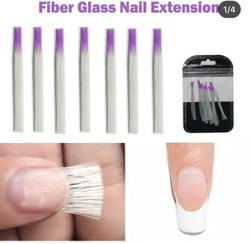 White Fiberglass Nail Extension Set, For Parlour, Personal, Packaging Size: 1 X 10