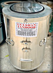 S Steel Gas And Charcoal Tandoor  24X34