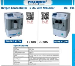 NISCOMED SINGLE FLOW OXYGEN CONCENTRATOR 5L