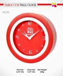 v-care Analog Promotional Table Clock, Shape: Round, Size: 5.57 Dia