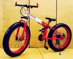Red BMW X6 Fat Tyre Foldable Cycle