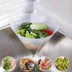 White PP Drain Filter Basket (Suction), For Kitchen, Dimension: 27.3 X 12 X 17.2 Cm