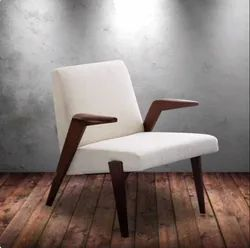 Wood Frame Wooden Cushioned Chair