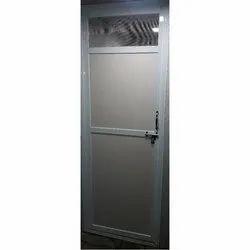 White Polished Aluminium Door, Single, Material Grade: 6063