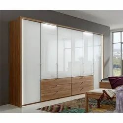 White and Brown Wooden Wardrobes