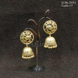 Designer Matt Polish Jhumka Earrings